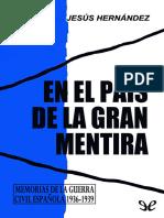 Hernandez Tomas, Jesus - En El Pais de La Gran Mentira [19245] (r1.1)