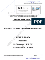 EE6366 Electrical Engineering Laboratory