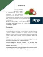 Informacion de Frutas