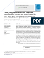 Control of Polymerization Shrinkage and Stress in Nanogel Modified Monomer and Composite Materials 2011 Dental Materials