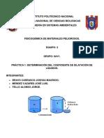 Práctica-1-Fisicoquímica Coeficiente de Dilatación