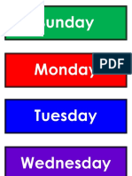 Unit 5 - Days of the Week Flashcards
