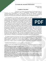 Basil Bernstein y Mario Díaz. 1985. Hacia Una Teoría Del Discurso Pedagógico. Revista Colombiana de Educaciíon No. 15. UPN (1)