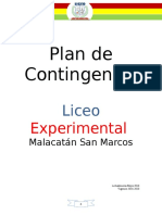 Plan de Contingencia Liceo Malacatan