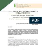 INFORME i3 ESTUDIO M.a.S. en Pendulo Simple y Reversible.