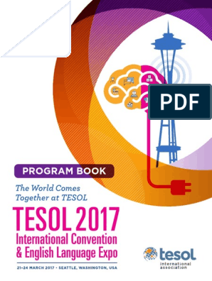 Tesol17 Program Book | English As A Second Or Foreign Language