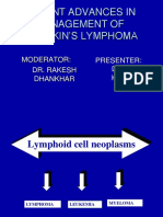 13 Recent Advances in Management of Hodhkin's Lymphoma