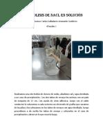 Electrolisis de NaCl en Solución