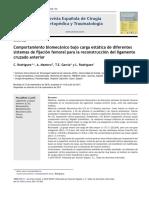 2011 2011 Comportamiento biomecánico bajo carga estática de diferentes sistemas de fijación femoral para la reconstrucción