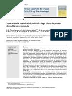 2010 Supervivencia y resultado funcional a largo plazo de prótesis de rodilla no cementadas
