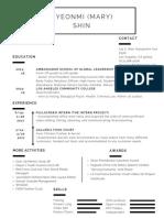 periwinkle minimalist corporate resume