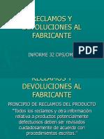 Módulo Reclamos y Devoluciones Al Fabricante Fusión BPM-RTCA