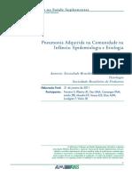 1 - Pneumonia Adquirida Na Comunidade Na Infancia-epidemiologia e Etiologia