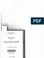 DAVY, Georges, Éléments de Sociologie. I. – Sociologie Politique, 1950