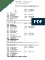 2018 U Sports Track Schedule
