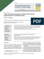 2011 Fiebre de origen desconocido y anemia como forma de presentación de un rabdomiosarcoma