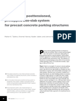 Transversely Posttensioned, Pretopped Box-slab System for Precast Concrete Parking Structures