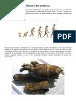 histoire des prothèses