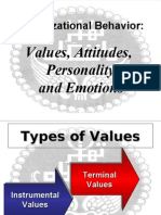 3-Values, Attitudes, Personality and Emotions
