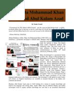 """Khan Ata Mohammad Khan Mentored Abul Kalam Azad"" by Nasim Yousaf"
