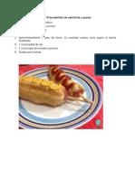 INGREDIENTES Para 10 Banderillas de Salchicha y Queso