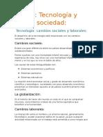 Tecnología - Cambios Sociales y Laborales