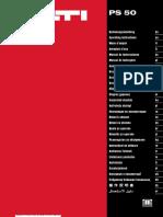 Manual de Instrucciones PS 50 01 ES Manual de Instrucciones PUB 5151181 000