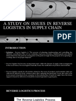 A Study on Issues in Reverse Logistics In
