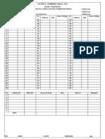 Bale Weighment Report Sheet
