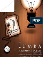 LUMBA Placement Brochure 2009-11 Batch