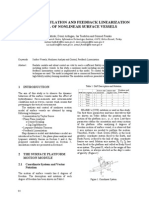 Modeling, Simulation and Feedback Linearization Control of Nonlinear Surface Vessels
