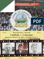Linfield v Coleraine 16.02.91