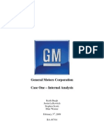 General Motors Corporation Internal Analysis