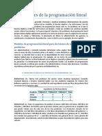 Ejercicios de modelación investigación de operaciones