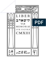 Crowley - Liber ThIShARB Viæ Memoriæ sub figurâ CMXIII
