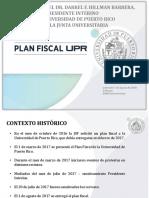 Presentación de Darrel Hillman sobre el plan fiscal UPR