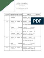 Accomplishment Report July