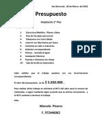 Presupuesto Marcelo Pizarro