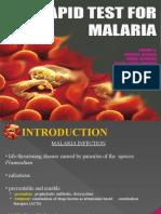 Rapid test for malaria