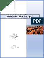 Géologie avancée