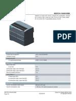 Hoja de Datos PLC S7 1200 DC/DC/DC POWER SUPPLY 24VDC