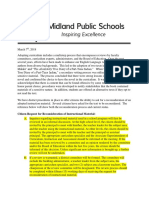 Midland Public Schools Press Statement