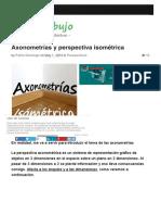 Axonometrias y perspectiva Isométrica | 10endibujo
