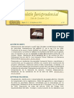 Boletín Jurisprudencial 01 de 2018