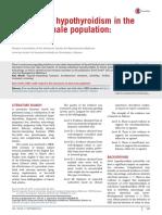 Hipotiroidismo Subclinico en Fertilidad