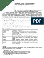 Winter KU Application Guide