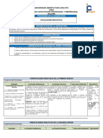 Programa de Evaluación Educativa Agosto 2015