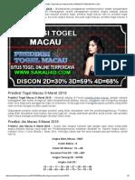 Prediksi Togel Macau 9 Maret 2018 _ Prediksitogelmacau.com