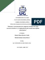 401-1226 - Obtención y Caracterización de Los Compuestos Aromáticos Del Ajenjo