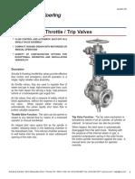 Brochure Catalog Throttle Trip Valves